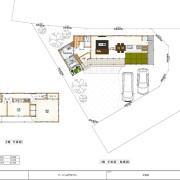 足門町変形地計画 平面図